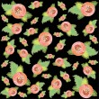 Vector de stock : Retro floral background. Rose.