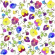 Vecteur: Retro floral background. Pansies.