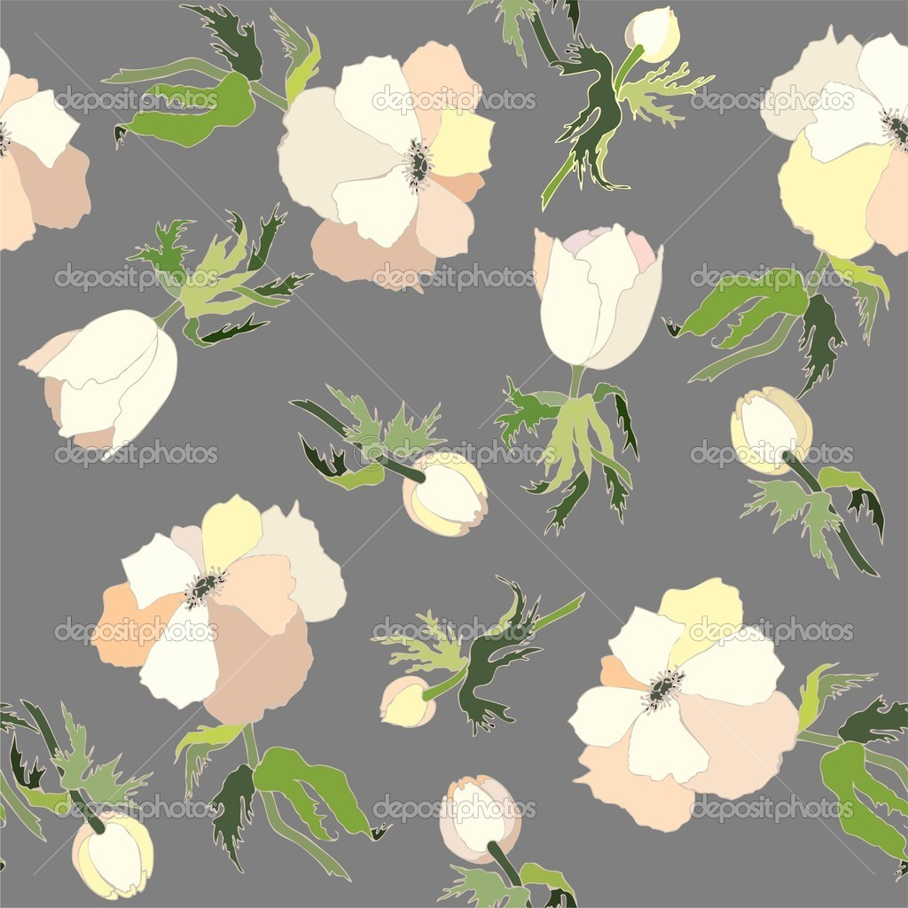 Background. Anemones.  Stock Vector #4046970