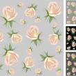Background. Rose. — Stock Vector