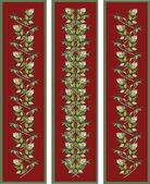 Vertical banner floral elements. — Stock Vector