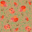 Floral background. Poppy. — Vector de stock #4112410