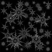 Nahtlose Schneeflocken. — Stockvektor