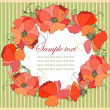 Royalty-Free Stock Vector Image: Decorative framework. Poppy.