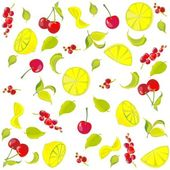 Background. Fruits. — Stock Vector