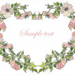 Decorative heart. Wild rose. — Stock Vector