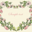 Royalty-Free Stock Immagine Vettoriale: Decorative heart. Wild  rose.