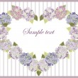 Royalty-Free Stock Imagen vectorial: Decorative heart. Hydrangea.