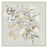 Greeting card with a bouquet of hydrangea. — Stok Vektör