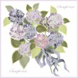 Greeting card with bouquet of hydrangea. — Stok Vektör #4728260