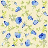 Retro floral background. Rose. — Stok Vektör
