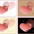 Hand drawn valentines day greeting card. - Stok Vektör