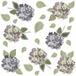 Seamless background from a flowers ornament — Stock Vector