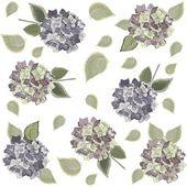 Dikişsiz arka plandan çiçek süsleme — Stok Vektör