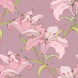 Seamless background from flowers ornament, fashionable modern wallpaper o — Stok Vektör #4969738