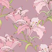 Bir çiçek süsleme, şık modern duvar kağıdı o sorunsuz arka plan — Stok Vektör