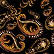 Seamless background from a paisley ornament, fashionable modern wallpaper o - Stok Vektör