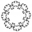 Beautiful decorative framework with flowers. — Vecteur