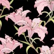 Seamless background from a flowers ornament, fashionable modern wallpaper o - Stok Vektör