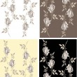 Seamless background from flowers ornament, fashionable modern wallpaper o — Stok Vektör #5338209