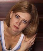 Portrait beautiful blonde — Stock Photo