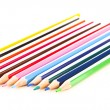 Many different colored pens. Color pencils — Stock Photo #5222709