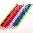 Many different colored pens. Color pencils — Stock Photo #5222712