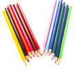 Many different colored pens. Color pencils — Stock Photo #5222717