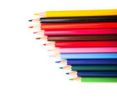 Many different colored pens. Color pencils — Stock Photo