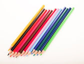 Many different colored pens. Color pencils — 图库照片