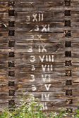 Wooden wall with numbers in order — Stock Photo