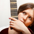 Young womwith guitar — Stock Photo #4905705