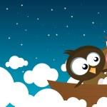 Birds on a boat — Stock Vector