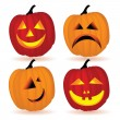 Calabazas de Halloween — Vector de stock