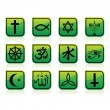 Stock Vector: Religious signs
