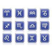 Zodiac signs — Stock Vector
