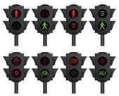 светофоры — Cтоковый вектор