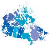 Mapa canadense — Vetor de Stock