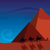 Pyramids — Stock Vector
