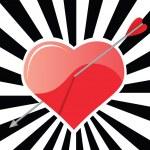 A Heart And An Arrow — Stock Vector