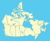 Canadian Map — Stock Vector