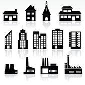 Edificios — Vector de stock
