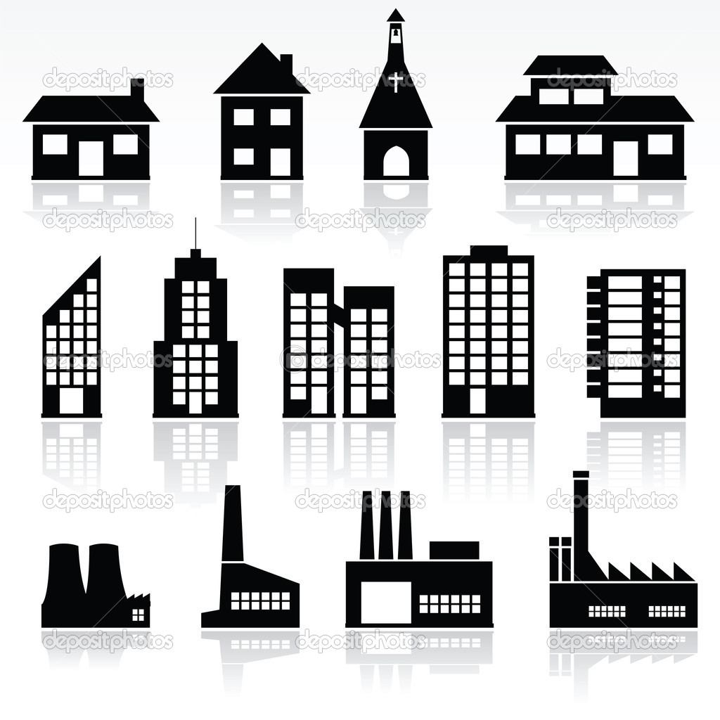 Vector set of various buildings — Stock Vector #5124078