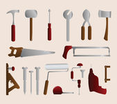 Set of Tools — Stock Vector