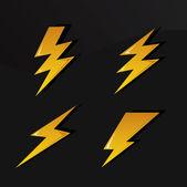 Lightning Signs — Stock Vector
