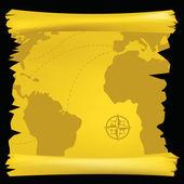 世界地図 — ストックベクタ