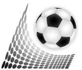 Fotboll över abstrakta backgropund — Stockvektor