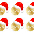 Six christmass business promo stickers — Stock Vector