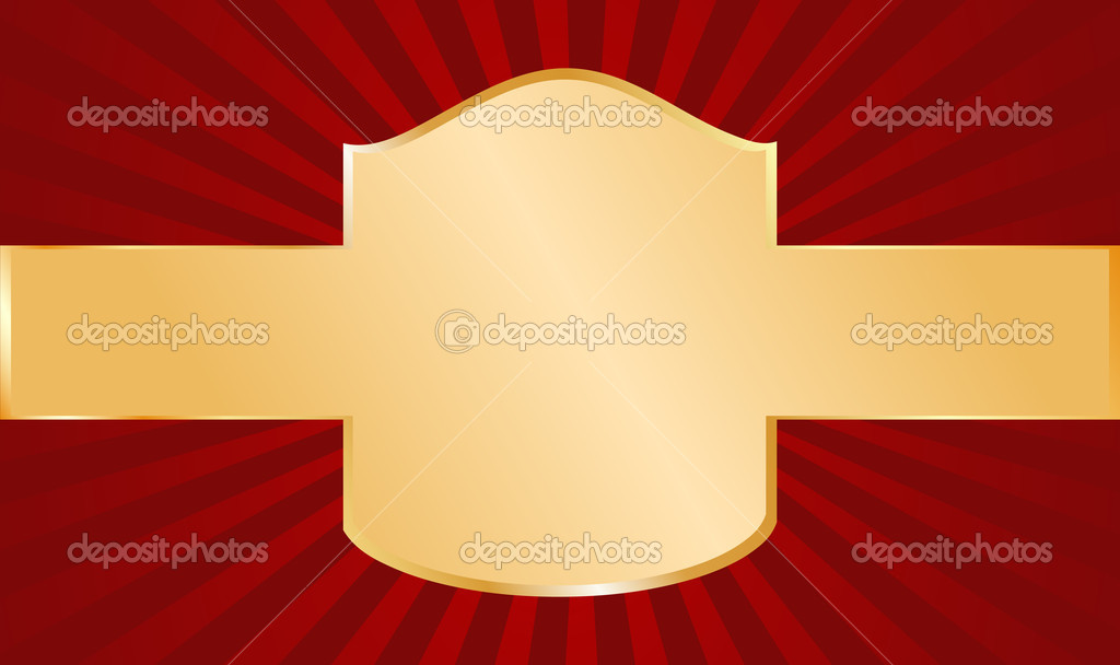 Red and gold vector background — Stock Vector #4300519