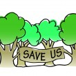 Save the trees illustration — Stock Vector